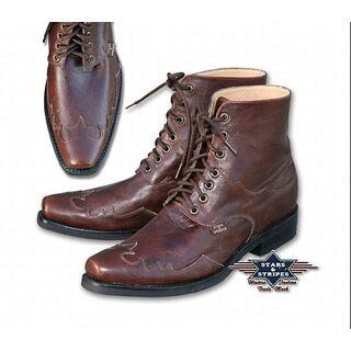 herren stiefellette geschn rte western boots. Black Bedroom Furniture Sets. Home Design Ideas
