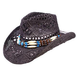 Strohut, Cowboyhut in schwarz