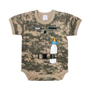 "Kurzärmliger Baby Body ""Soldat"" - ACU..."