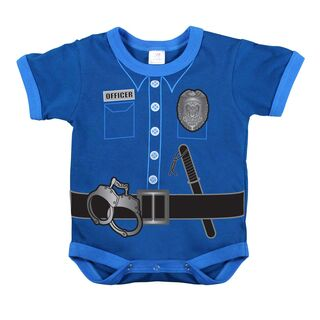 Kurzärmliger Baby Body Police Uniform