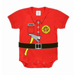 Kurzärmliger Baby Body Feuerwehr Uniform