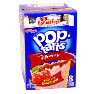 1x8 Kelloggs  PopTarts Frosted Cherry (MHD 25.01.2019)
