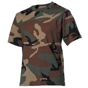 Kinder T-Shirt, woodland, halbarm