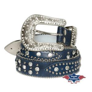 Blauer Damengürtel Rockabilly Westerngürtel...