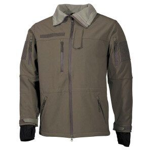 Soft Shell Jacke, High Defence, olive, Outdoor, Sport,...
