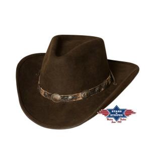 """Westernhut Cowboyhut """"EL DORADO"""" 100% Wollfilz..."""