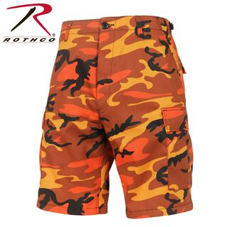 Rothco Colored Camouflage, BDU Shorts, Farbe: Savage Orange Camo - Neuer Trend USA