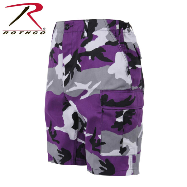 Rothco Colored Camouflage, BDU Shorts, Farbe: Ultra Violet Camo - Neuer Trend USA