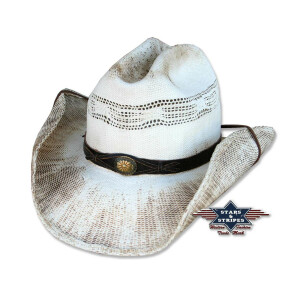Sommerlicher, leichter Western-Strohhut Cowboyhut...