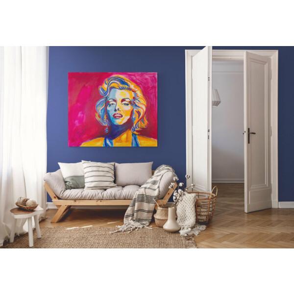 100% Handgemaltes Acryl Wand Bild Marilyn Monroe modernes Bild Pop Art 120x100x40