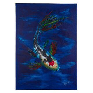 Goldfische Koi Wasser Acrylbild 50x70cm Leinwand Keilrahmen original handsigniert (VERKAUFT)
