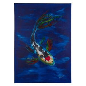 Goldfische Koi Wasser Acrylbild 50x70cm Leinwand...