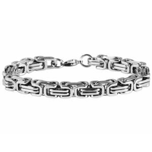 Silberfarbenes Akzent Armband aus Edelstahl