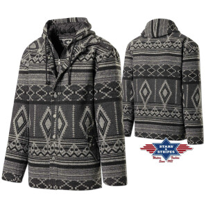 Herrenjacke, Winterjacke, warme Jacke im Azteken-Design