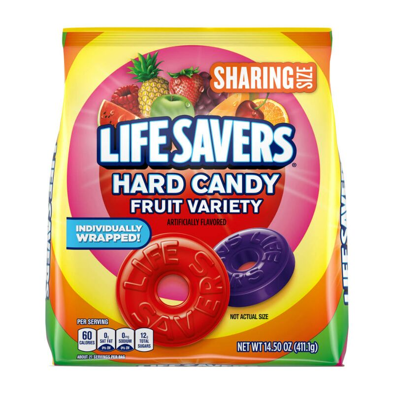 Lifesavers Hard Candy Fruit Variety Candy Bonbon, 411g