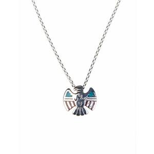 Silberkette mit Adler Anhänger Türkis u....