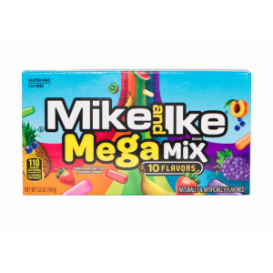 """Mike and Ike 10 Flavors """"Mega Mix"""" Kaudragees,..."""