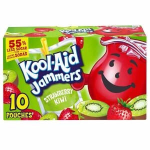 10x Kool Aid Jammers Strawberry-Kiwi 177ml