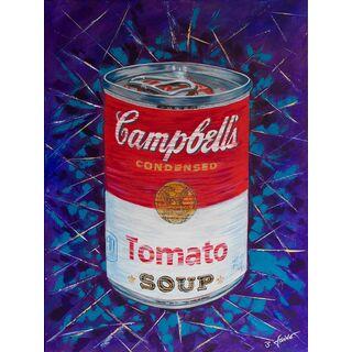 "Leinwand Druck vom Original Acrylbild ""Campell's Soup"""